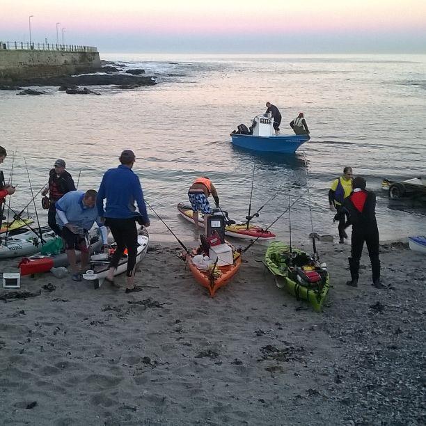 Early morning launching to do some Kayak fishing