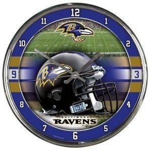 Baltimore Ravens Round Chrome Wall Clock Z157-1094327929