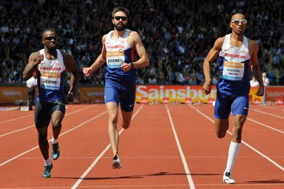 Martyn Rooney (GBR), Nigel Levine(GBR), Matthew Hudson Smith (GBR), 300m   See more photos on:http://www.bopressphoto.com/07062015---iaaf-diamond-league-birmingham-2015.html