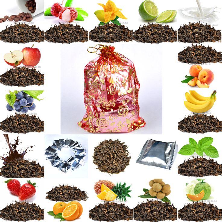 Мешок подарков + 16 видов Вкус Пуэр Чай, Персик/Виноград/Молоко/Манго/Orange/Монв/шоколад/мятный вкус Pu'er, хорошо для партии, подарки, свадьба