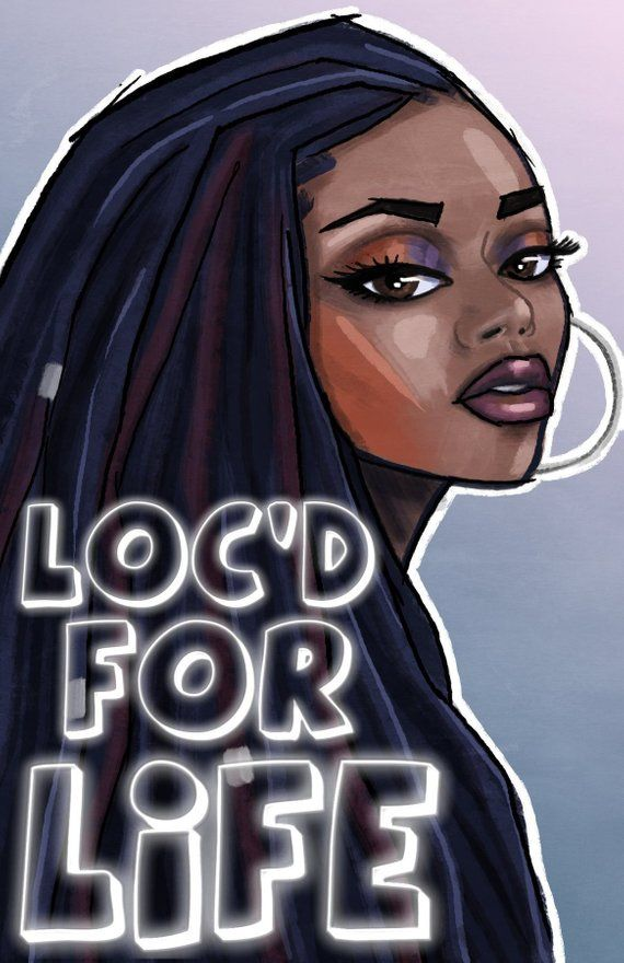 iNspire: Loc'd For Life-Tagebuch, Locs, Black Lives Matter, Geschenke für Schriftsteller, Black Pride, Afrikanische Kunst, Black Girl Magic, Schwarzes Haar