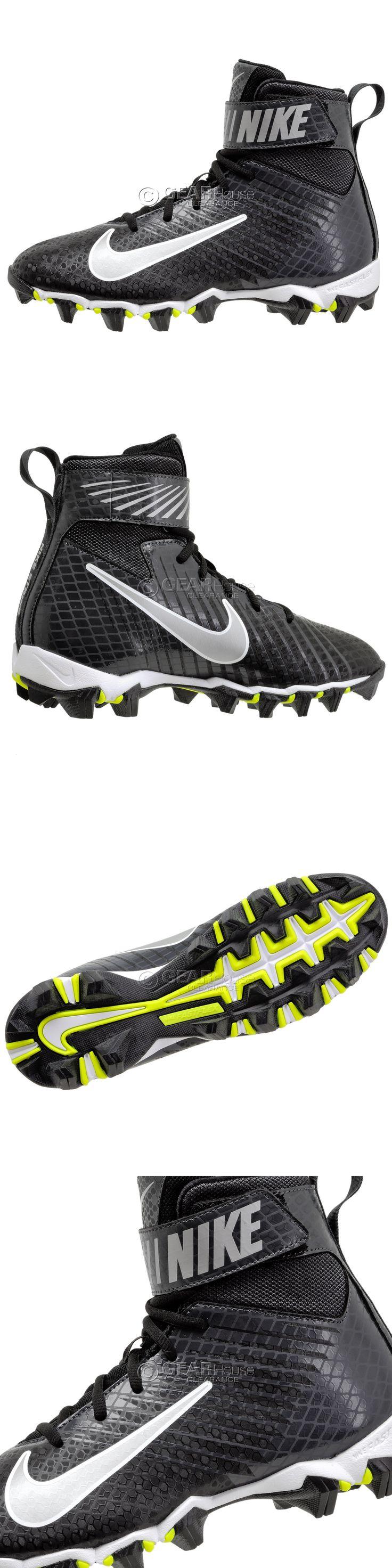 Men 159116: New Nike Strike Shark Mens High Top Football Cleats Lineman : Black Silver -> BUY IT NOW ONLY: $37.8 on eBay!