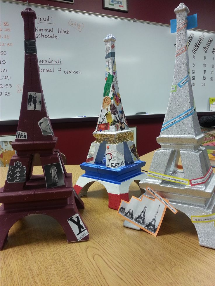 The Eiffel Tower in the French Classroom. Unlimited collage ideas.