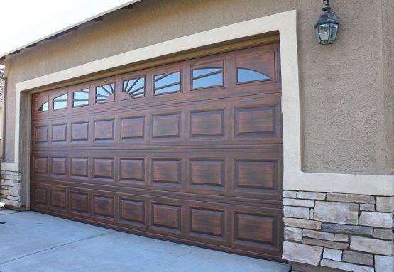 Custom garage door window inserts