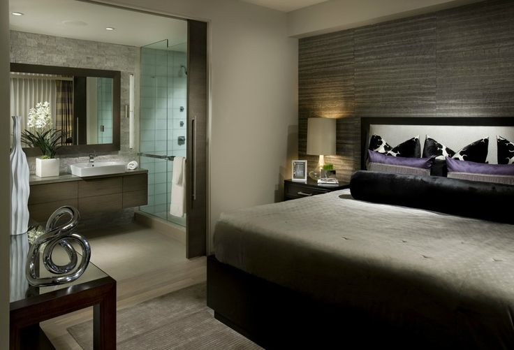 bedroom with bathroom attached - Google Search | Small ...