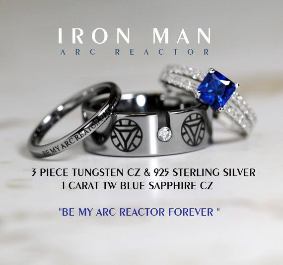 IRON MAN Tungsten and 925 Sterling Silver 1 by Cloud9Tungsten