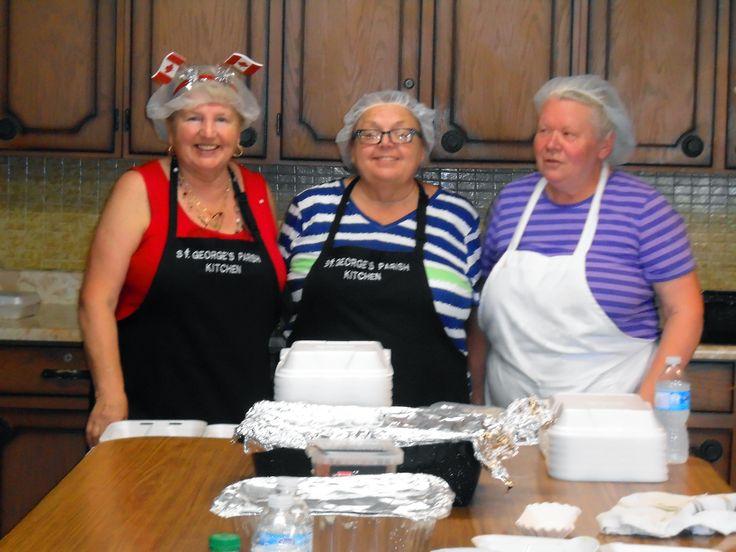 St. George's Ukrainian Orthodox Parish, St. Catharines ON — Canada Day 2015 $5.00 Perogy Lunch