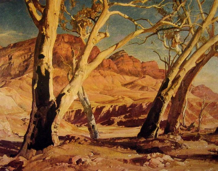 Brachina Gorge (1932), oil on canvas by Hans Heysen