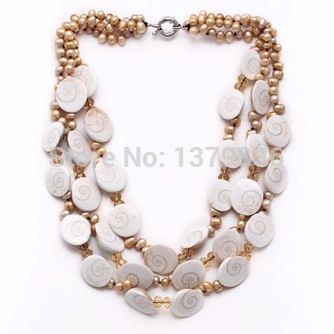 Find More Others Information about Amazing Design Multi Strands Yellow Pearl and White Shell Fossil Necklace,High Quality necklace fur,China necklace rhinestone Suppliers, Cheap fossil necklace from Lucky Fox Jewelry on Aliexpress.com