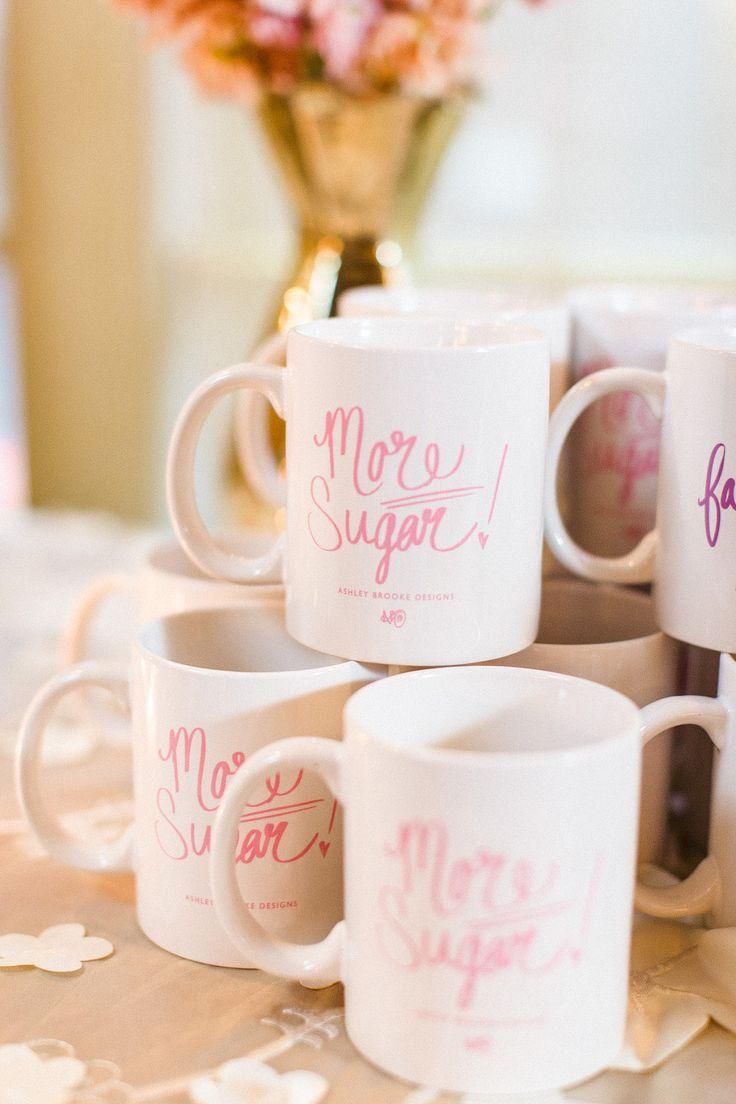 Coffee mug wedding favors - Trouvaille Workshop Wedding Inspiration Summer Wedding Favorsbradley Jamescustom Mugscoffee