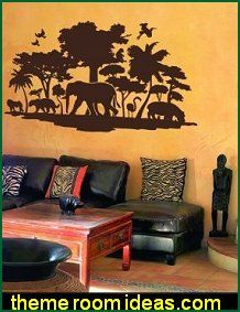 Safari Bedroom Decorating   Wild Animal Safari Theme Bedrooms Murals    Safari Style Accessories   African