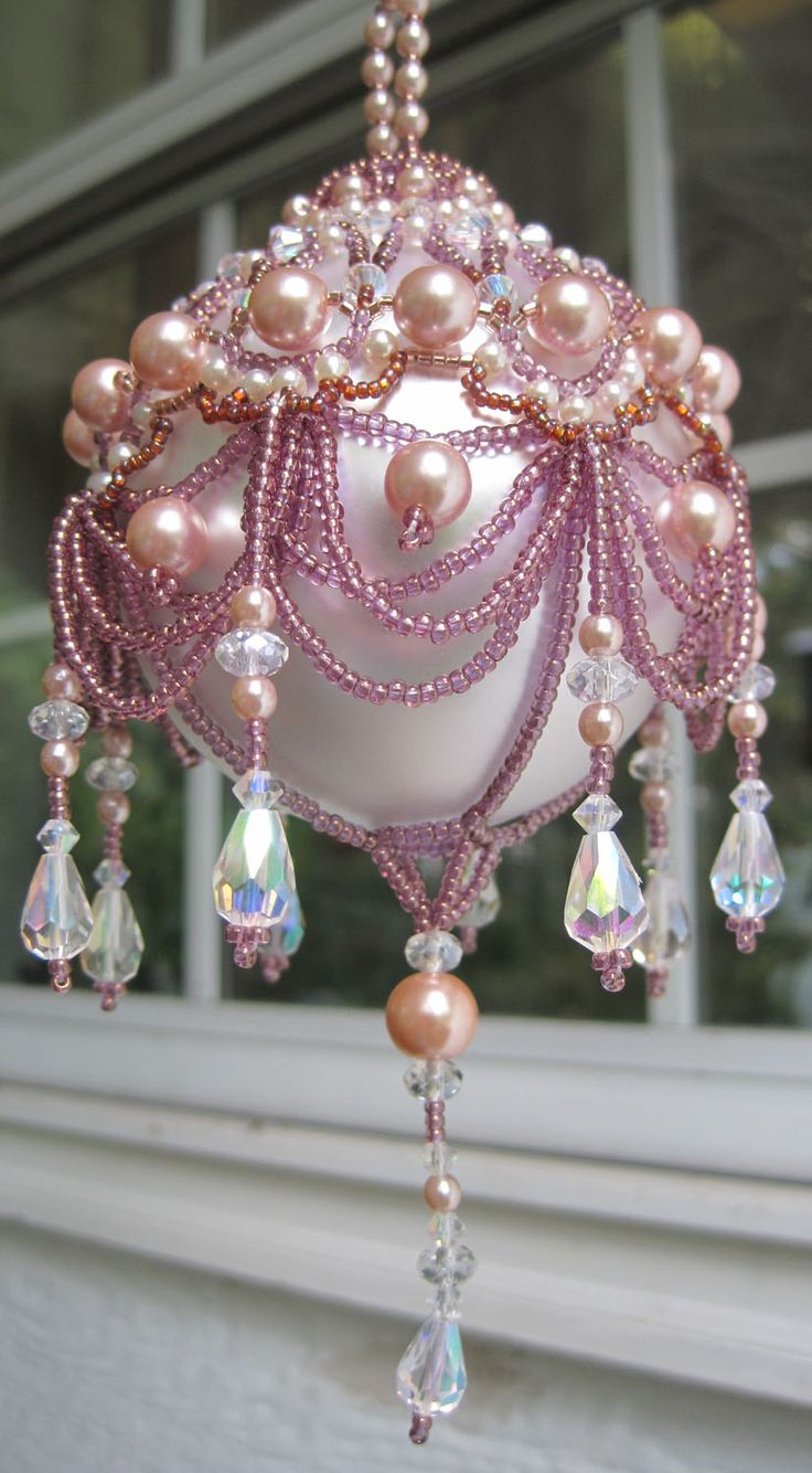17 Best Ideas About Beaded Ornaments On Pinterest Beaded