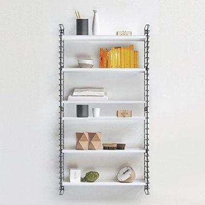 Metaltex Metal 3 Tier Shelving Designed By Adriaan Dekker for Tomado, White