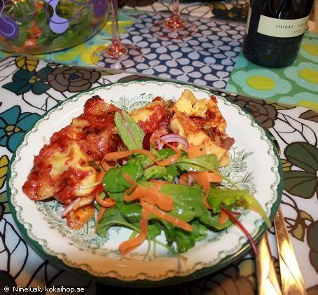 Cannelloni med svamp och västerbottenost