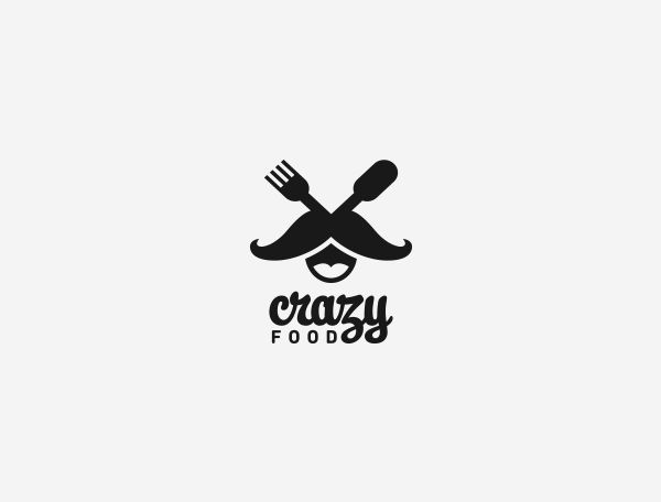 This is such a cute combination logo. I love how the image appears to be a person with a mouth, mustache and a fork and knife creating the eyes. 6bb5676f94aafee72cd2851b4a365a9d 20 Food Industry Logos