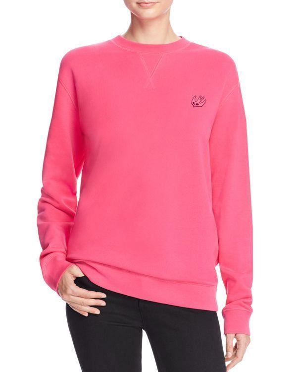 McQ Alexander McQueen Classic Swallow Embroidered Sweatshirt
