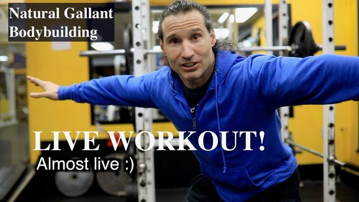LIVE NATURAL BODYBUILDING WORKOUT, SHOULDERS, LEGS, AND TRICEPS