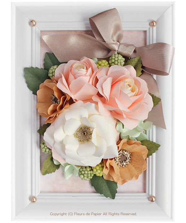 $ Fleurs de Papier ~ flowers of the three-dimensional to make in the craft punch and flower paper variety - - Craft punch in three-dimensional flowers (rose)