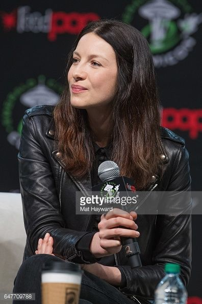 News Photo : Outlander's Caitriona Balfe speaks on stage...