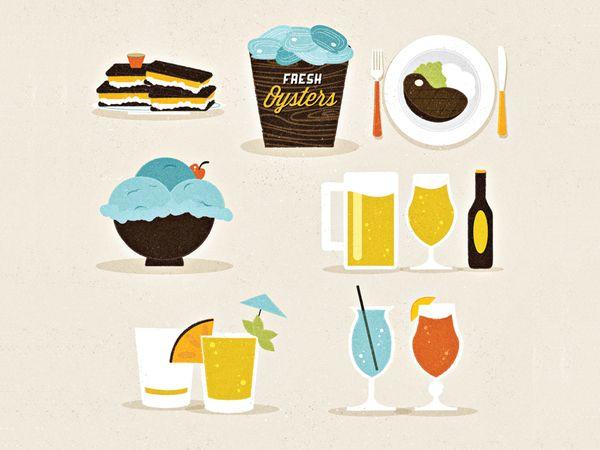 Food & Beverage Icons by Adam Grason , via BehanceDesign Inspiration, Studios Zadok, Inspiration Graphics, Beverages Icons, Graphics Design, Zadok Fourty, Design Studios, Art Illustration, Adam Grason