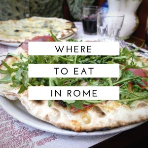 Where to eat in Rome