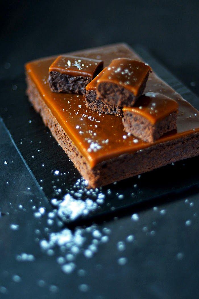 Lemon & Vanilla: Gesalzene Karamell Brownie / Brownie com caramelo Salgado.