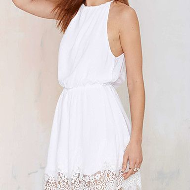 Women's White Dress , Sexy Sleeveless – CAD $ 20.84