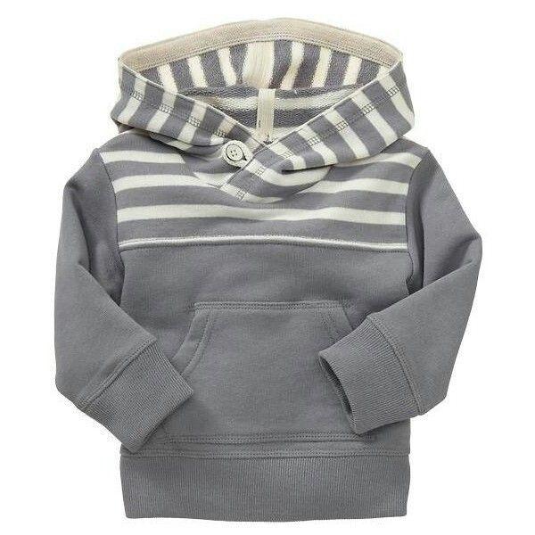 cute dark gray baby boy hoodie