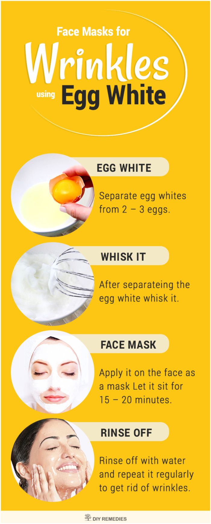 Egg White Face Masks for Wrinkles