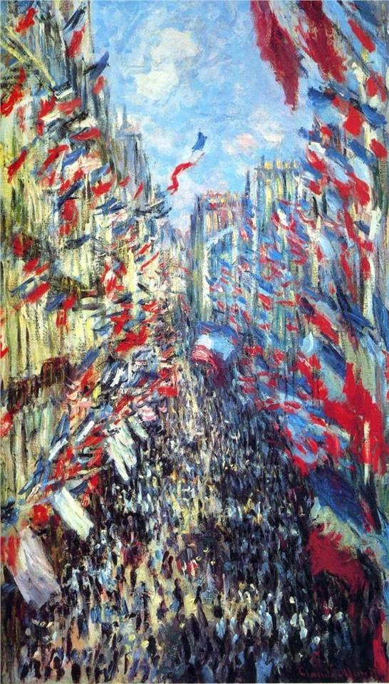 Bastille Day, Claude Monet ~ ~ To all my French friends celebrating the 14 of July, the French National Holiday, I wish you a wonderful day. ~ Â tous mes amis français qui célèbrent le 14 Juillet, la Fête Nationale Française, je vous souhaite un bel journée. ~*~ VIVE LA FRANCE!
