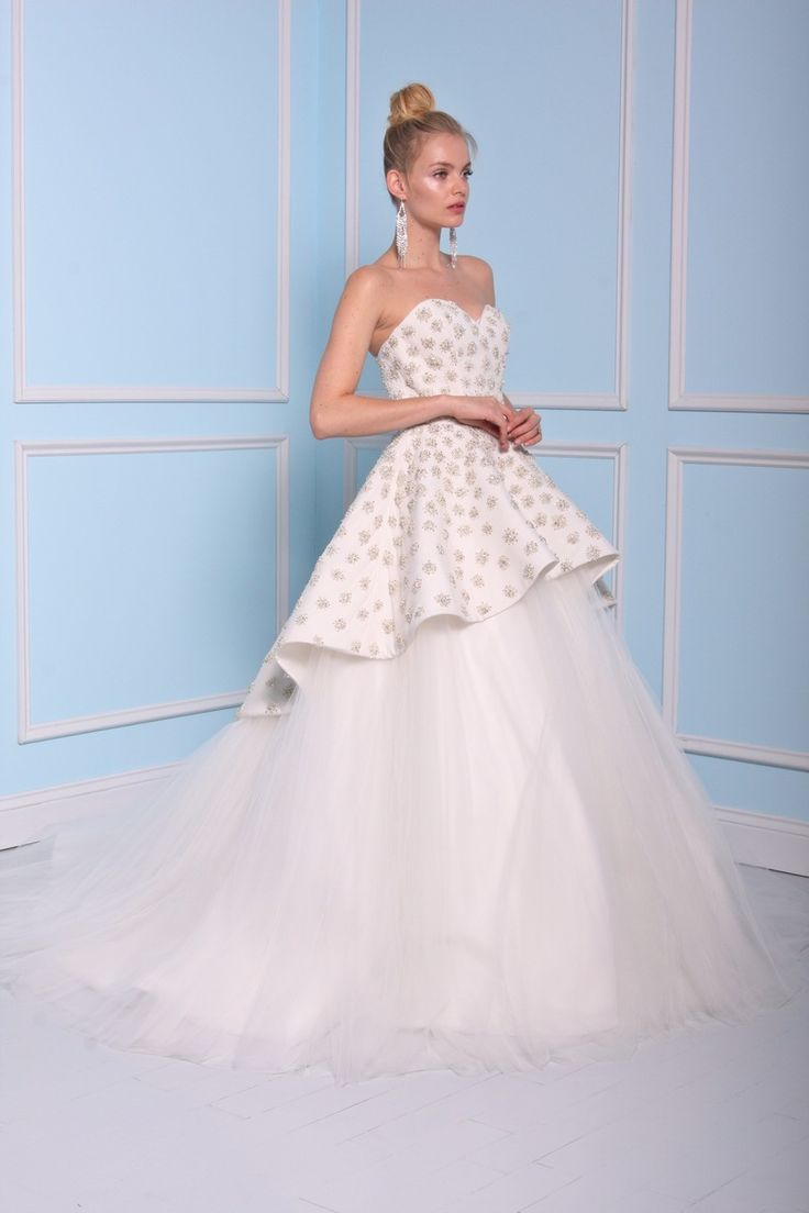 Ball gown wedding dress by Christian Siriano wedding dresses 2016 | itakeyou.co.uk
