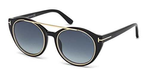 Occhiali da sole Tom Ford Joan FT0383 C52 01W (shiny black / gradient blue). Plastica, Nero. tomford, 0383, ft 0383, tom ford