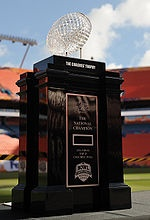 The holy grail for NCAA football!!! SEC teams have won it 5 years in a row :)