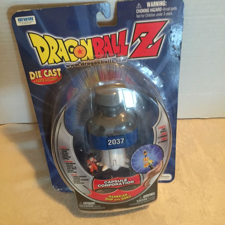 Dragon Ball Z Capsule Corporation 2037 Namekian ship w/Goku Die Cast parts inc