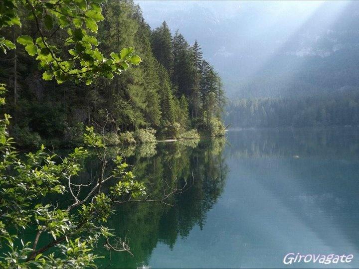 reflections on Lake Tovel, Val di Non