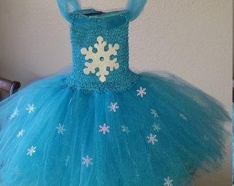 Frozen Inspired Turquoise Elsa or any color Flower Girl Tutu Dress Costume