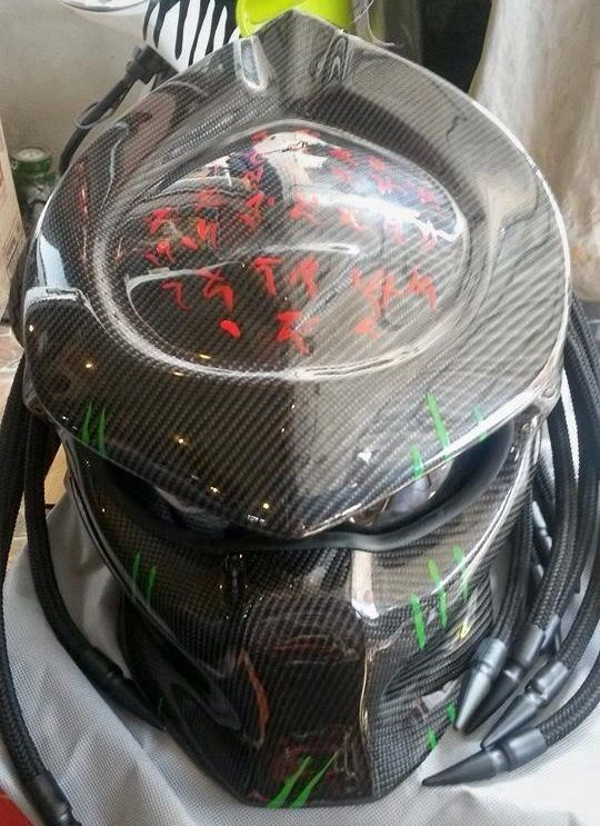 Custom Predator Motorcycle Helmets Moto Bike DOT/ECE. This helmet has a great style, shape and colors, Its a novelty helmet, means it does meet any safety standards. NOVELTY HELMET. Handmade Full Face Skull Skeleton inspired helmet. | eBay!