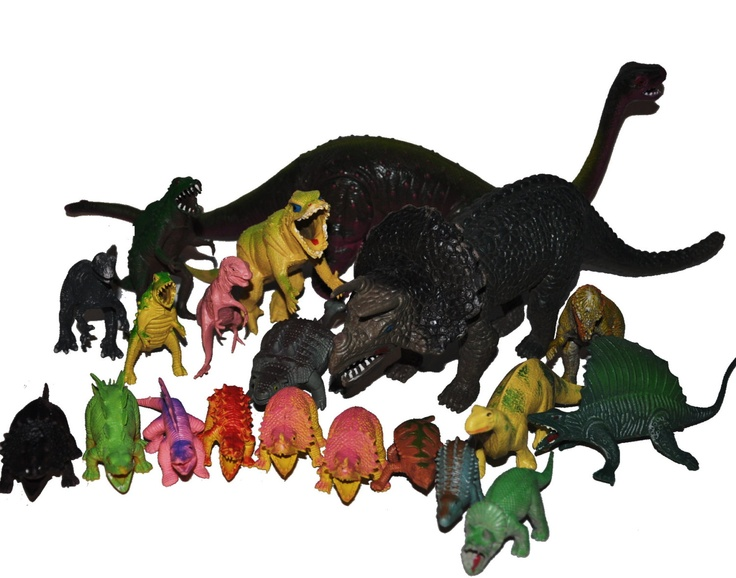 Cheap plastic dinosaurs were a childhood staple for me. Give me a ton of these and let me loose outside and you wouldn't see me for hours.