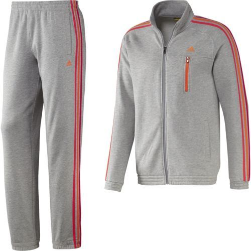 Adidas Tracksuit For Men S 3 Stripe Essential Grey Cute
