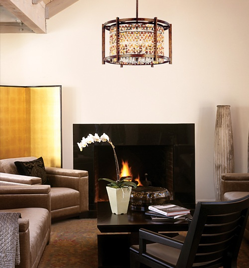 Corbett lighting karma collection living room for The family room troy ny