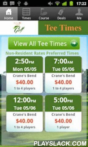 Orange Lake Golf Tee Times  Android App - playslack.com , The Orange Lake Golf app includes custom tee time bookings with easy tap navigation and booking of tee times. The app also supports promotion code discounts with a deals section, course information and an account page to look up past reservations and share these reservations with your playing partners via text and email.