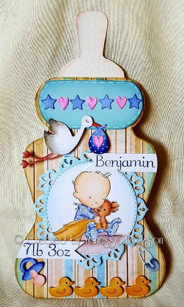 Baby bottle card