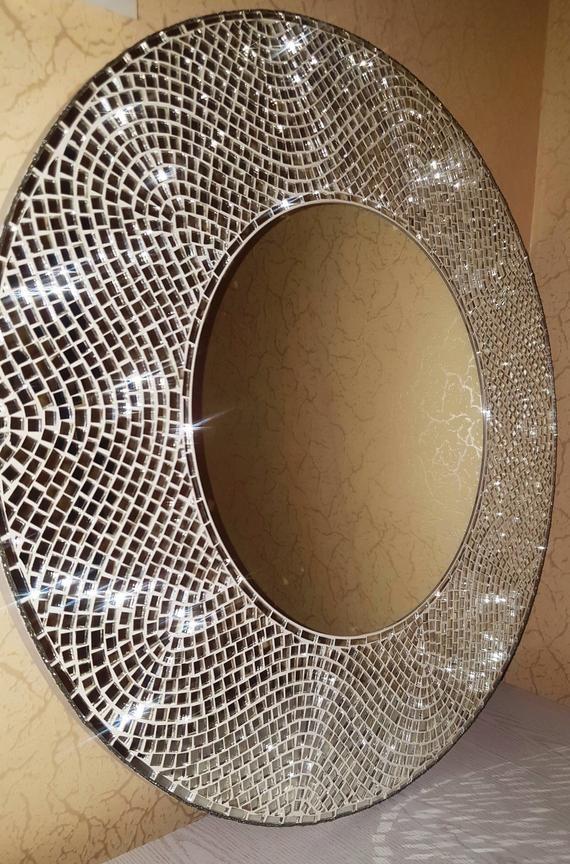 Large Round Mirror 31 Decorative Mirror Wall Hanging Etsy Mirror Wall Decor Mirror Decor Large Round Mirror