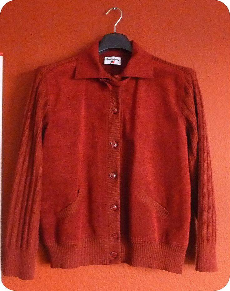 Designer ZAUNKÖNIG Damen Jacke Schurwolle Velours Leder Strick Rot 40 42 Granny in Kleidung & Accessoires, Damenmode, Jacken & Mäntel   eBay