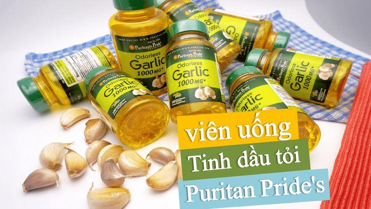 Tinh dầu tỏi Odorless Garlic Puritan's Pride 1000mg của Mỹ