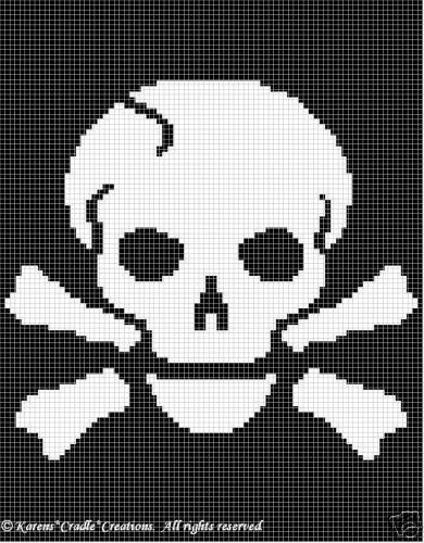 Crochet Patterns Pirates Skull Pattern | eBay