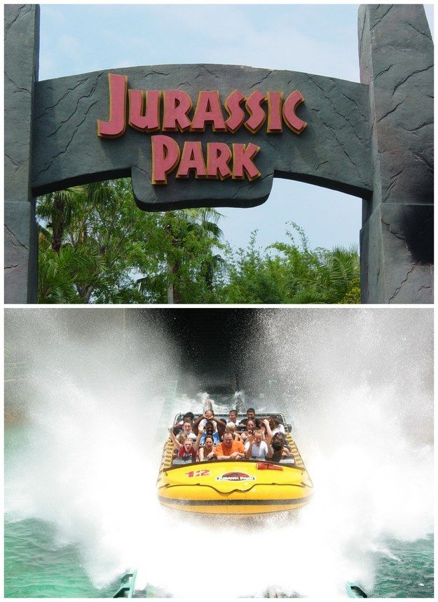 Jurassic Park — The Ride might be too scary for little kids, but then again, it might not.