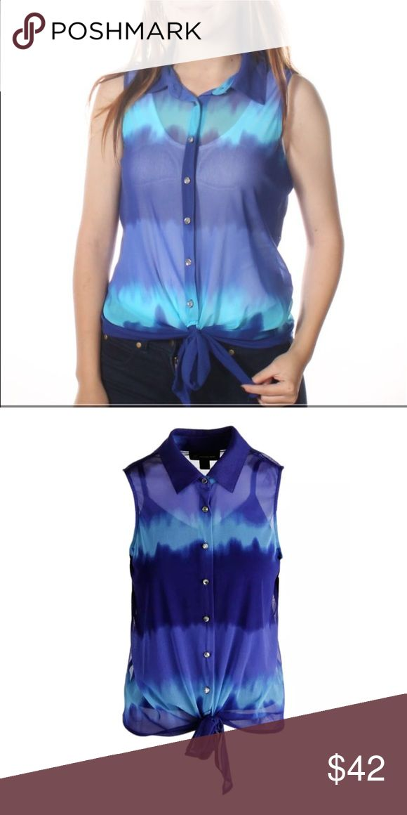 🆕 Listing! INC Chiffon Dip-dye Blouse! NWT! Comes with attached cami. NWT! INC International Concepts Tops Blouses