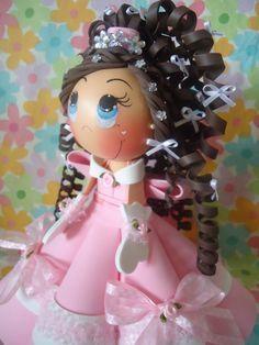 como hacer una muñeca fofucha quinceañera moldes - Buscar con Google
