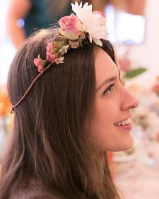 Making Floral Crowns at Erin Fetherston's Cosabella Launch Party | Martha Stewart